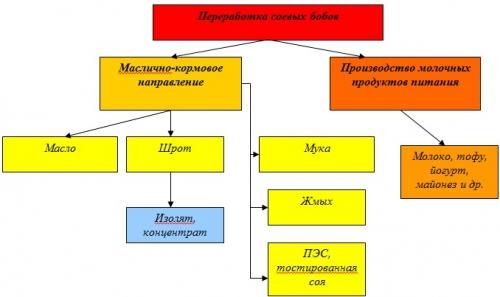 переработки соевых бобов: