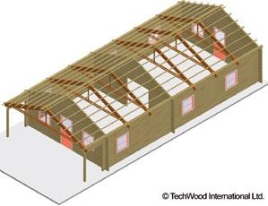 Рис. 2: «Упрощенное строительство» - инновационная концепция компании TechWood International Ltd.