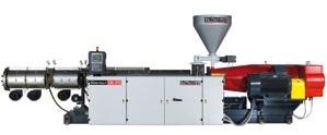 Рис. 1: Экструдер fiberexA135 twin vent для переработки древесно-полимерных композиционных материалов