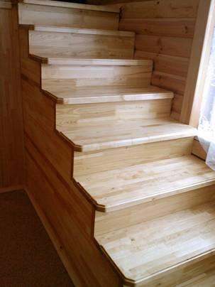 Деревянные ступени для лестниц купить или заказать по